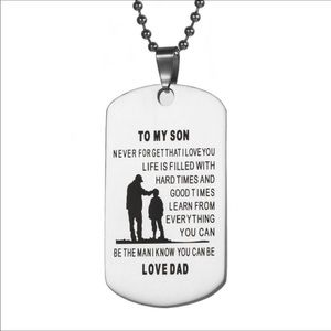 Father Son Dog Tag Necklace Stainless Steel New
